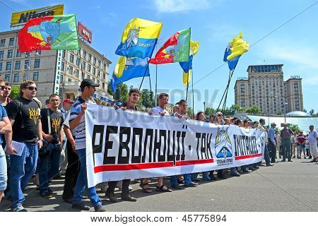 Kiev - May 18: Political Meeting On May 18, 2013 In Kiev, Ukraine.