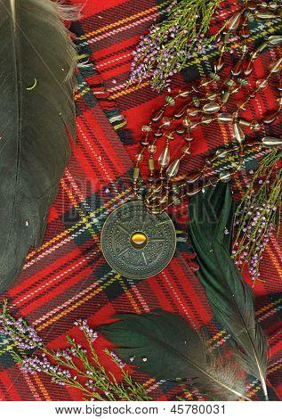 Red scottish plaid