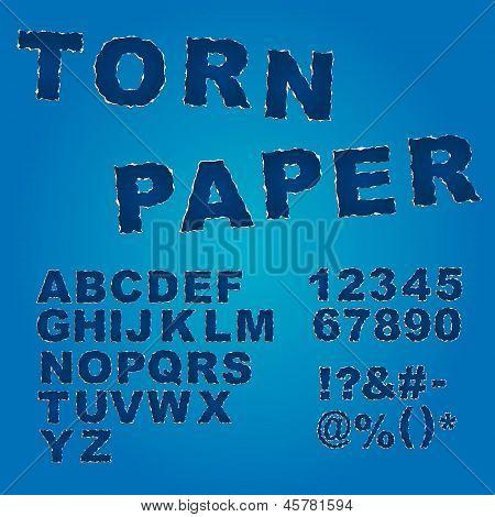 Torn Paper Font