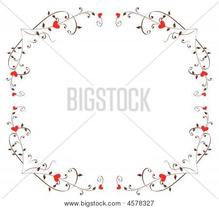 Heart Floral Border