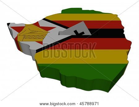 Zimbabwe election map with ballot paper illustration