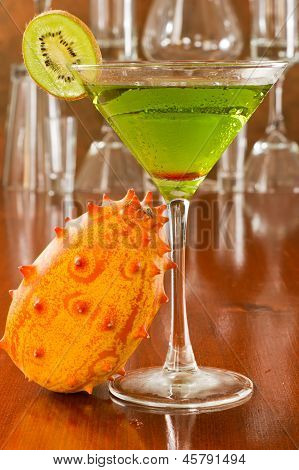 Tropical Green Cocktail