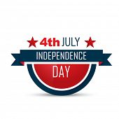 american independence day vector label design poster
