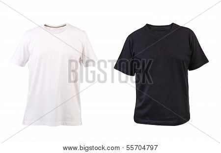 Black and white man T-shirt.