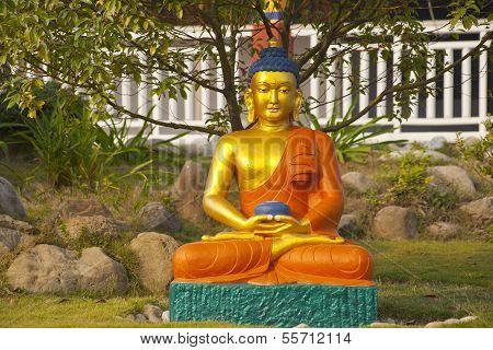 Buddha In Lumbini, Nepal