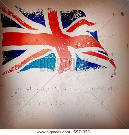 UK,Great Britain flag grunge
