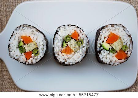 Vegetarian Sushi Maki Rolls