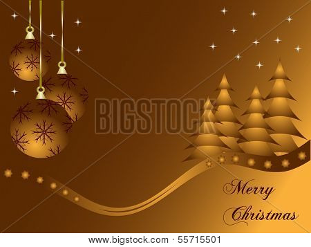 Abstract gold christmas baubles background with room for text