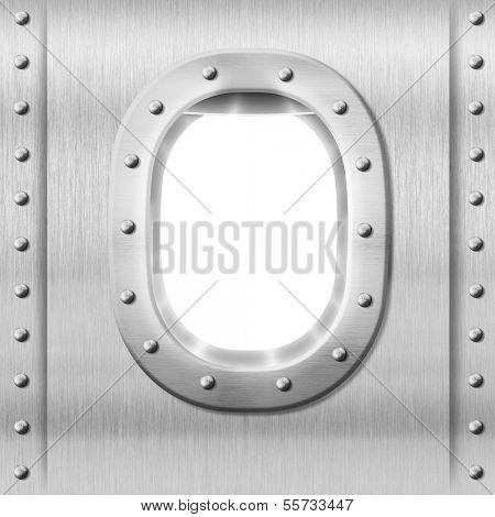 metal porthole or window background