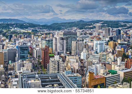 Sendai, Japan cityscape poster