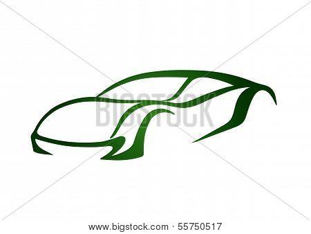 Green sport auto vector