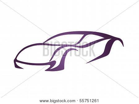 Purple sport auto vector