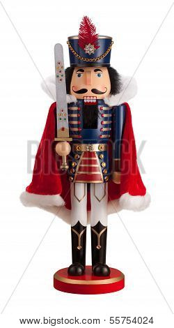 Nutcracker With A Cape Isolated