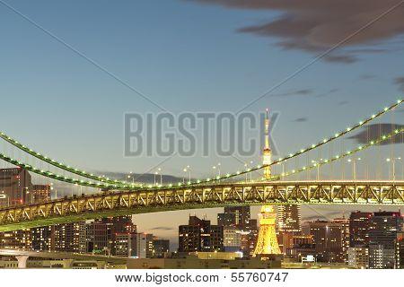 Tokyo Bay at Rainbow Bridge
