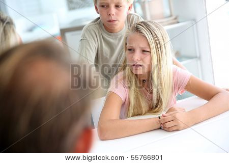 Kids listening carefully to their parents