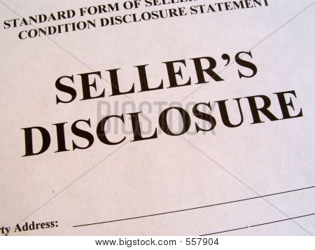 Real Estate Seller's Disclosure