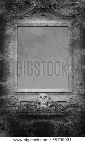 Human Skulls Grunge Dark Background