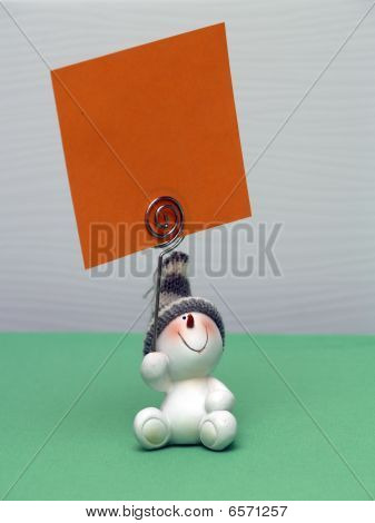 The Snowball Souvenir With Note