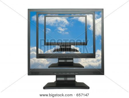 LCDs Cloned Into The Blue Sky