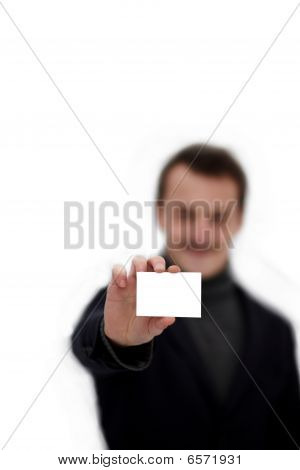 Copyspace - Young Man Holding Business Card