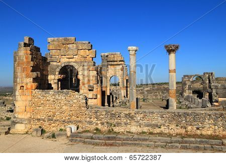 Volubilis - Roman archaeological site.