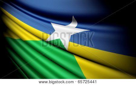 Flag Of Brazil (rondonia)