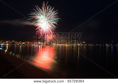 The Night Of San Juan With Fireworks