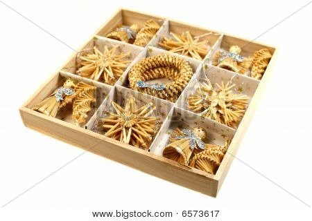 Christmas Decorations - Straw Toys