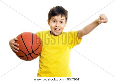 Happy Boy With Basketball
