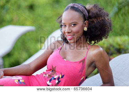 Stock image of a woman smiling at the camera