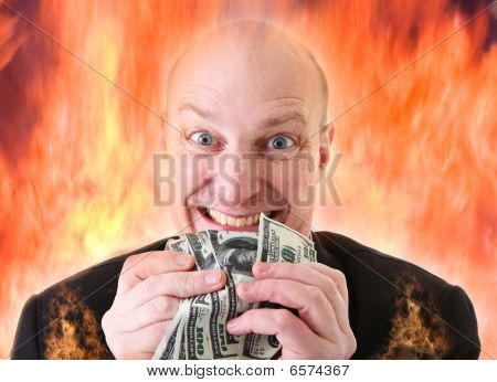 Avarice Deadly Sin Of Greed Dollars