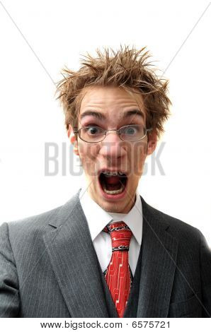 Frustrated Businessman Screaming