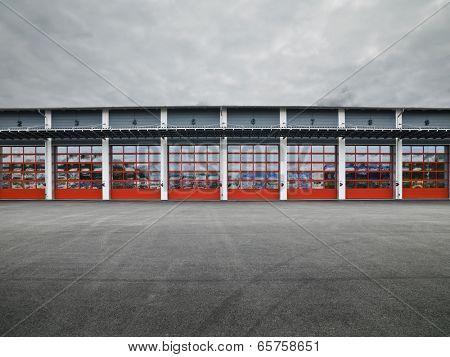 Garage Doors in a row