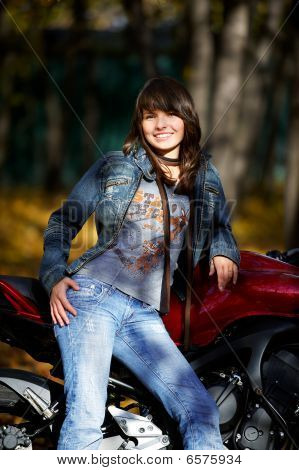 The Girl About A Motorcycle