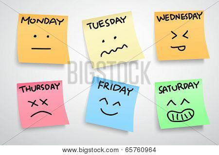 A Week Face Expression