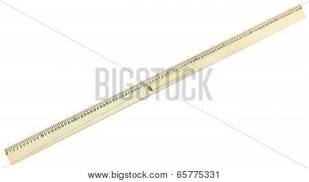 Top View Of Wooden Meter Ruler