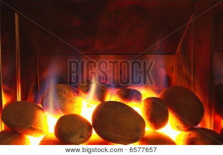 Real Fire Glowing Coals
