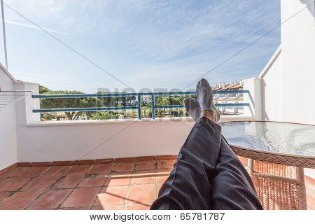 Resting Feet In The Sun