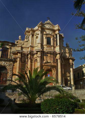 Baroque Facade In Noto