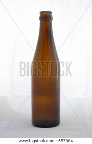 Beer Bottle Against White Background