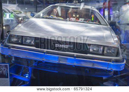 Los Angeles -usa, October, 3: De Lorian Dmc-12 Car On Display At Universal Studios In Los Angeles Mu