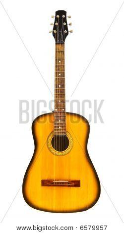 Yellow Acoustic Guitar