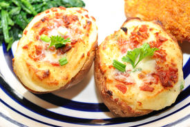 Twice Baked Potatoes With Bacon And Cheese