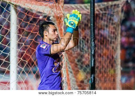 Sisaket Thailand-october 29: Sarawut Konglarp Of Army Utd. Show Good Sportsmanship After The End Of