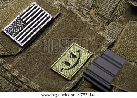Tactical Vest With American Flag