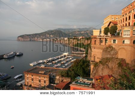 Sorrento, Italy, From The Top Of The Port Stairs