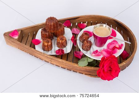 Cake Canneles from France
