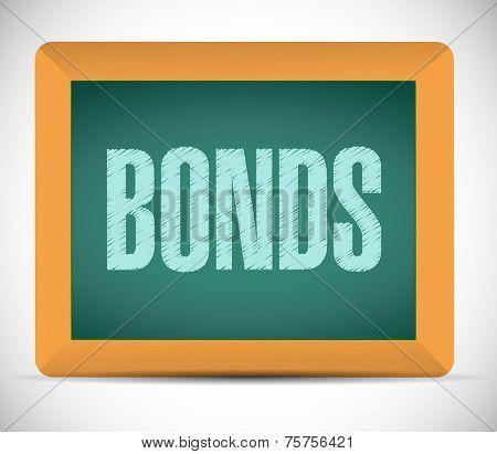 Bonds Sign On A Board. Illustration