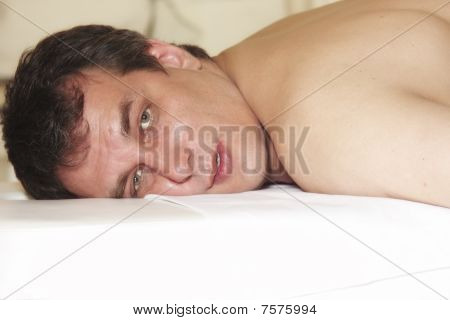 Man On Massage Table