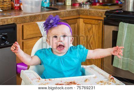 Messy Child Eating Tantrum